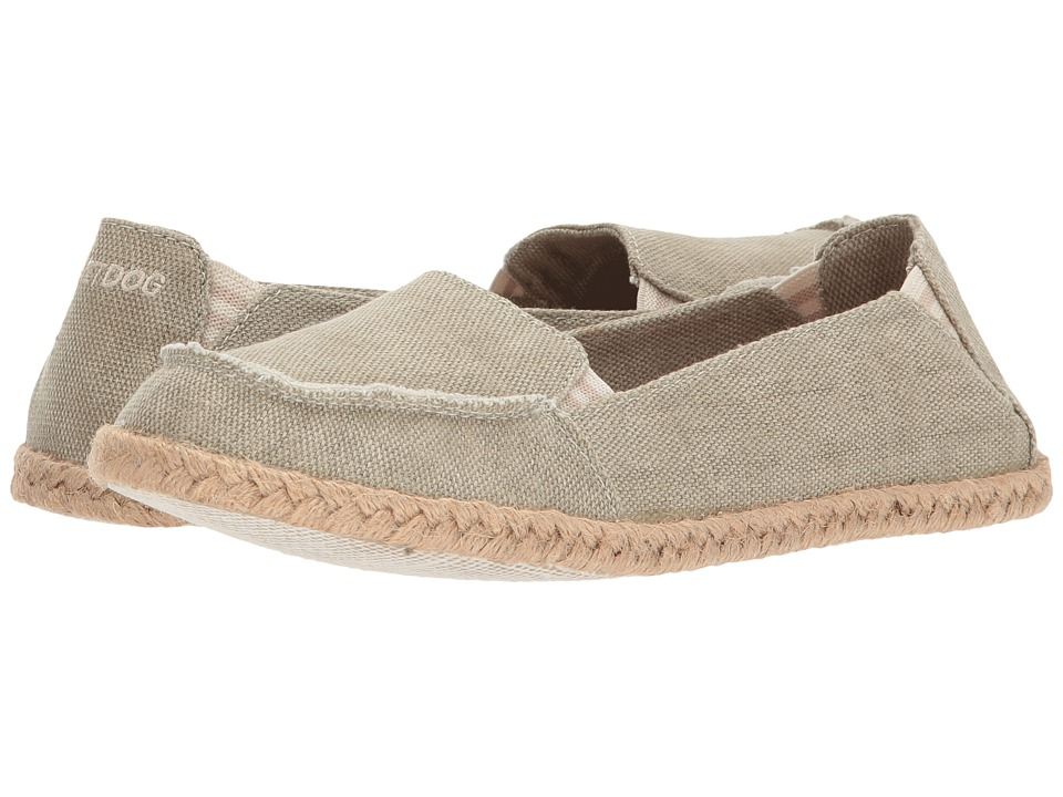 Rocket Dog - Clover (Natural Washed Canvas) Women's Slip on Shoes