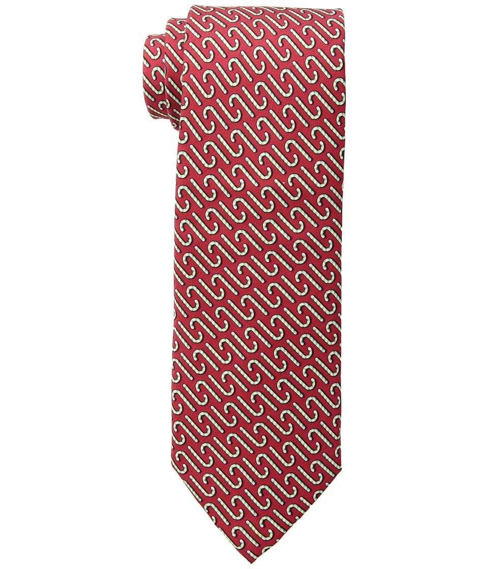 Vineyard Vines - Printed Tie - Candy Cane (Red) Ties