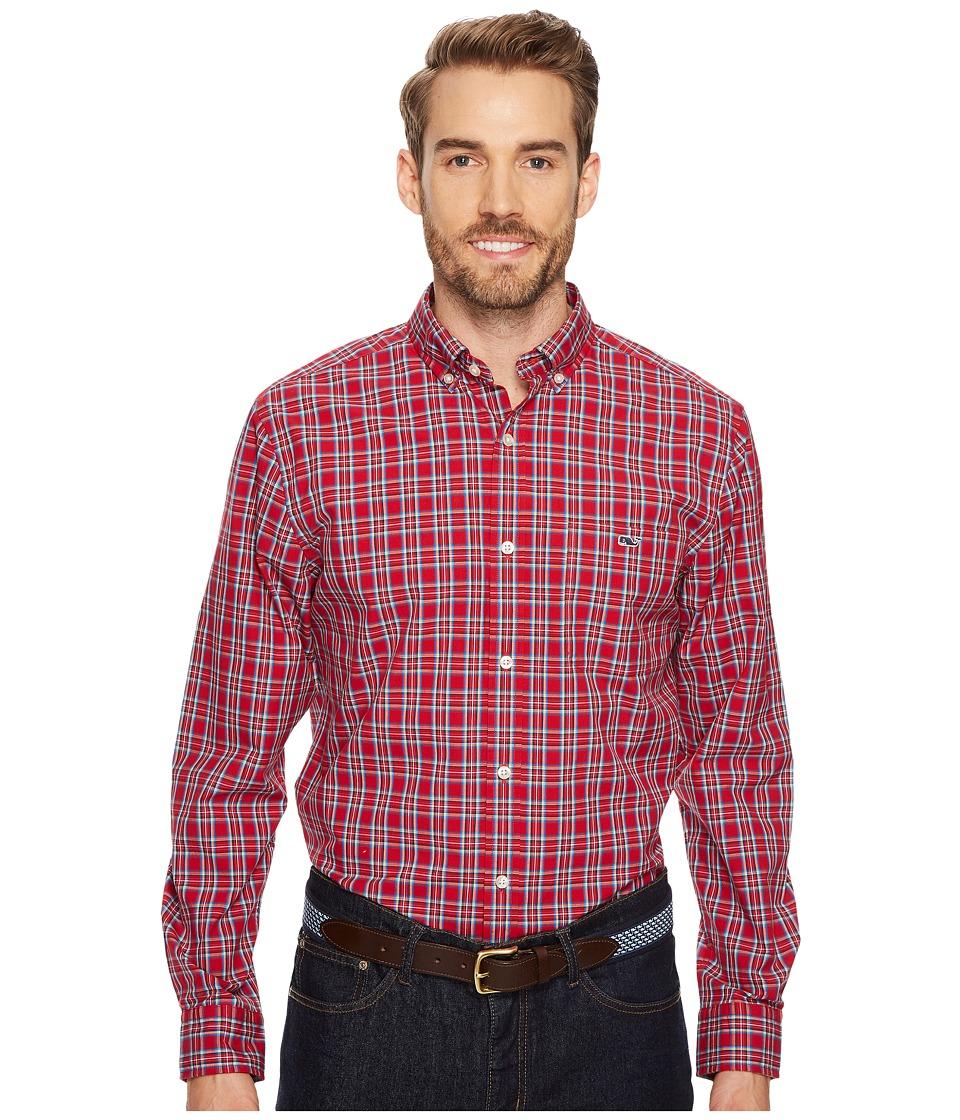 Vineyard Vines Riverton Plaid Classic Tucker Shirt (Tomato Check) Men