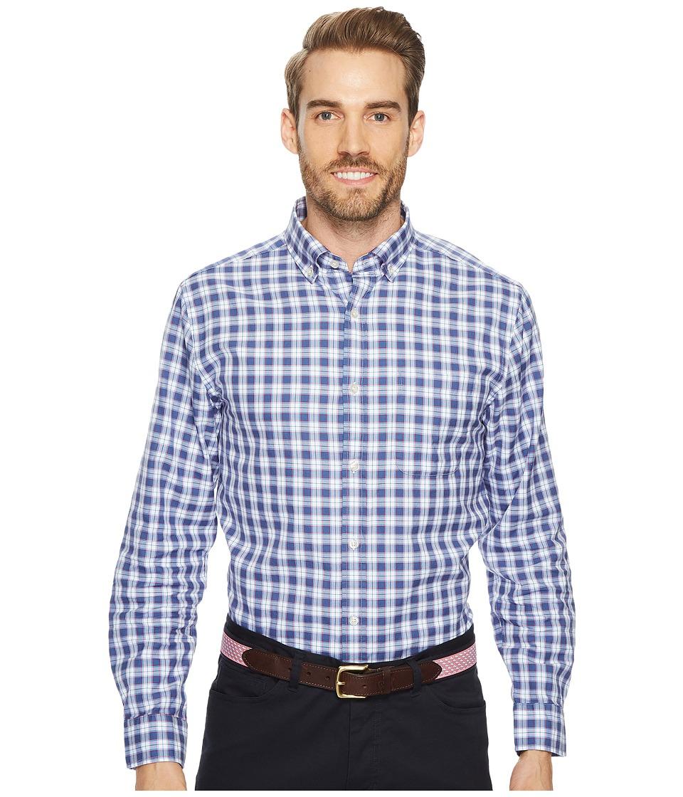 Vineyard Vines Edgewater Plaid Classic Murray Shirt (Moonshine) Men