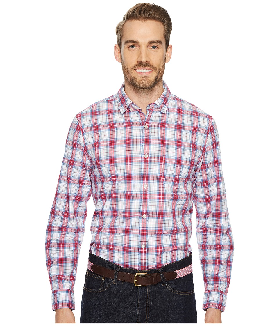 Vineyard Vines Bucklin Point Plaid Slim Murray Shirt (Pomegranate) Men