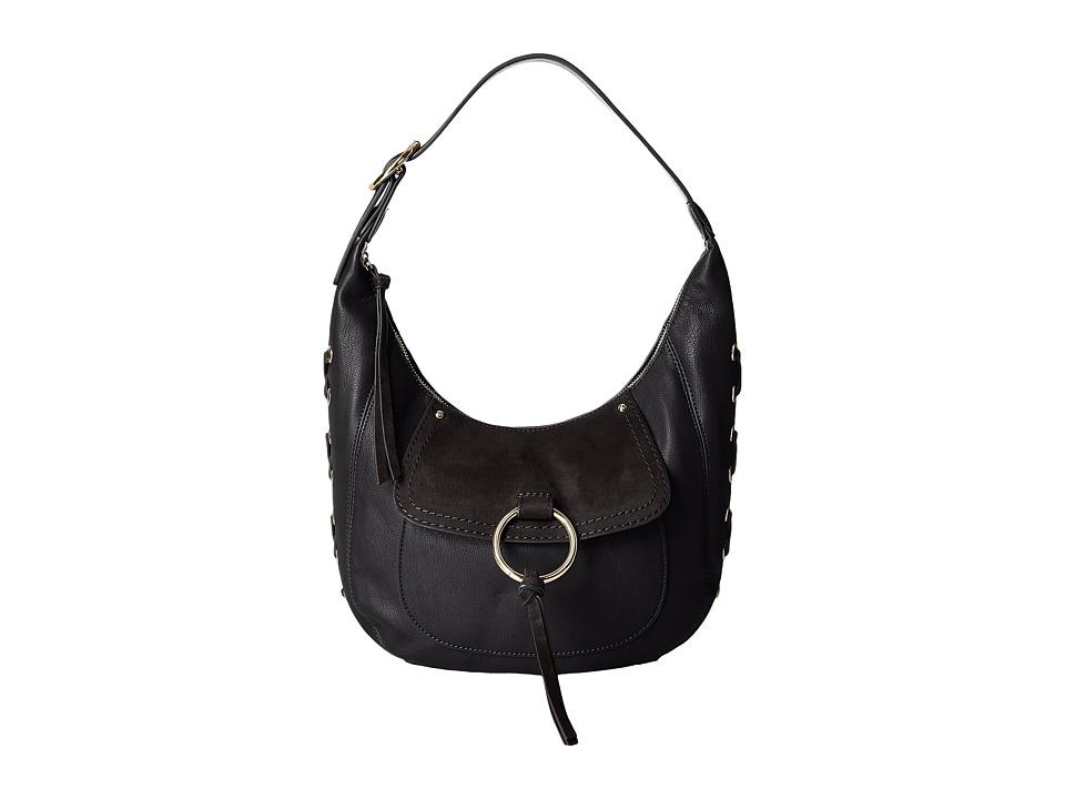 Nine West - Ring Decoder Small Hobo (Black) Handbags