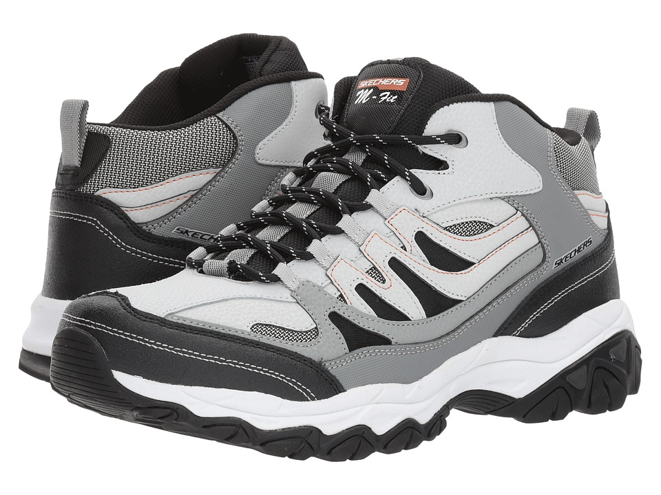 SKECHERS - Afterburn M. Fit Geardo (Gray/Black) Men's Shoes