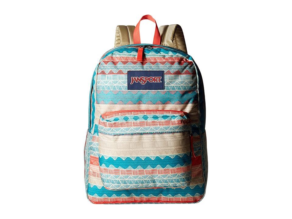 JanSport - Superbreak (Malt Tan Boho Stripe) Bags