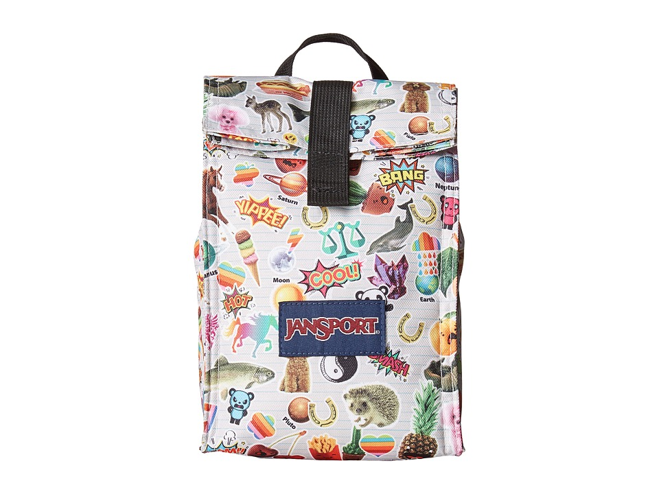 JanSport - Rolltop Lunch Bag (Multi Stickers) Bags