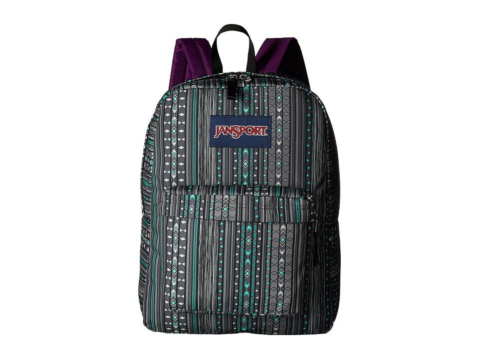 JanSport - Superbreak (Seafoam Green Camo Stripe) Bags