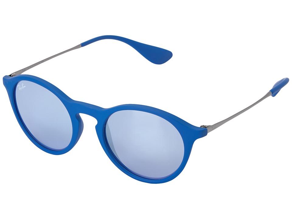 Ray-Ban - 0RB4243 49mm (Blue) Fashion Sunglasses