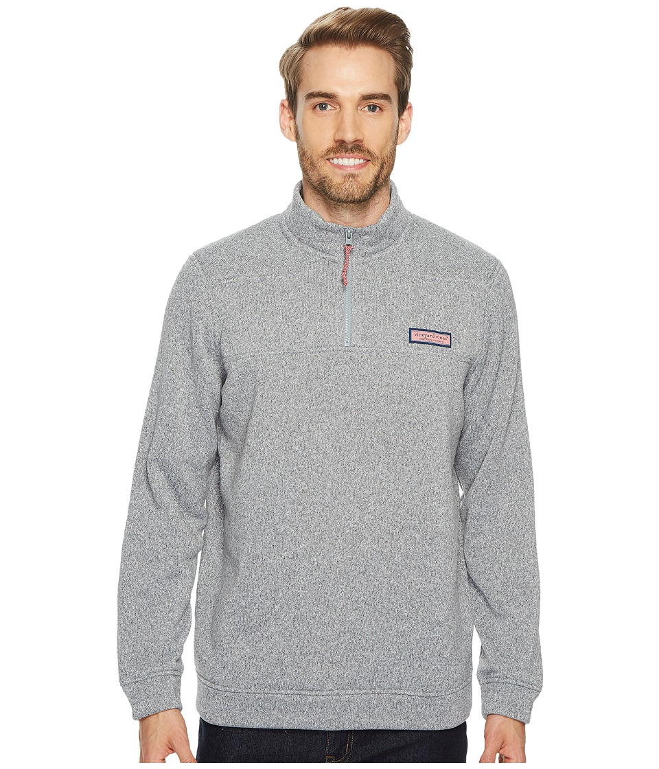 Vineyard Vines Sweater Fleece Shep Shirt (Minnow Gray) Men