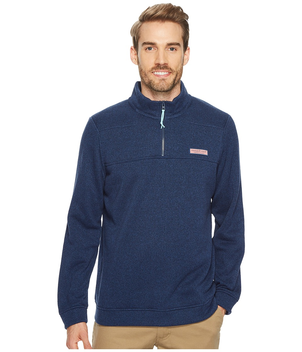 Vineyard Vines Sweater Fleece Shep Shirt (Deep Bay) Men