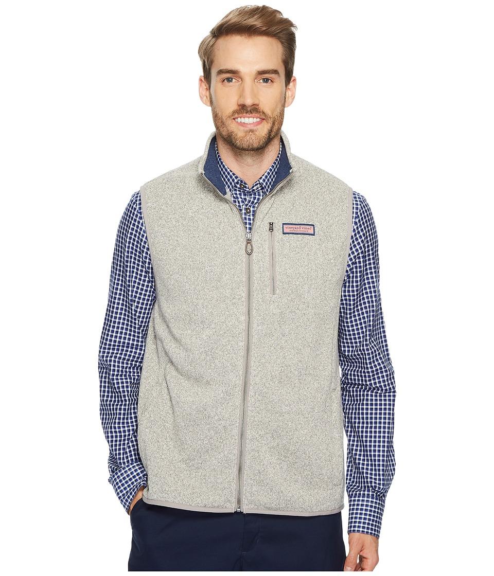Vineyard Vines Dressy Sweater Fleece Vest (Pebble) Men