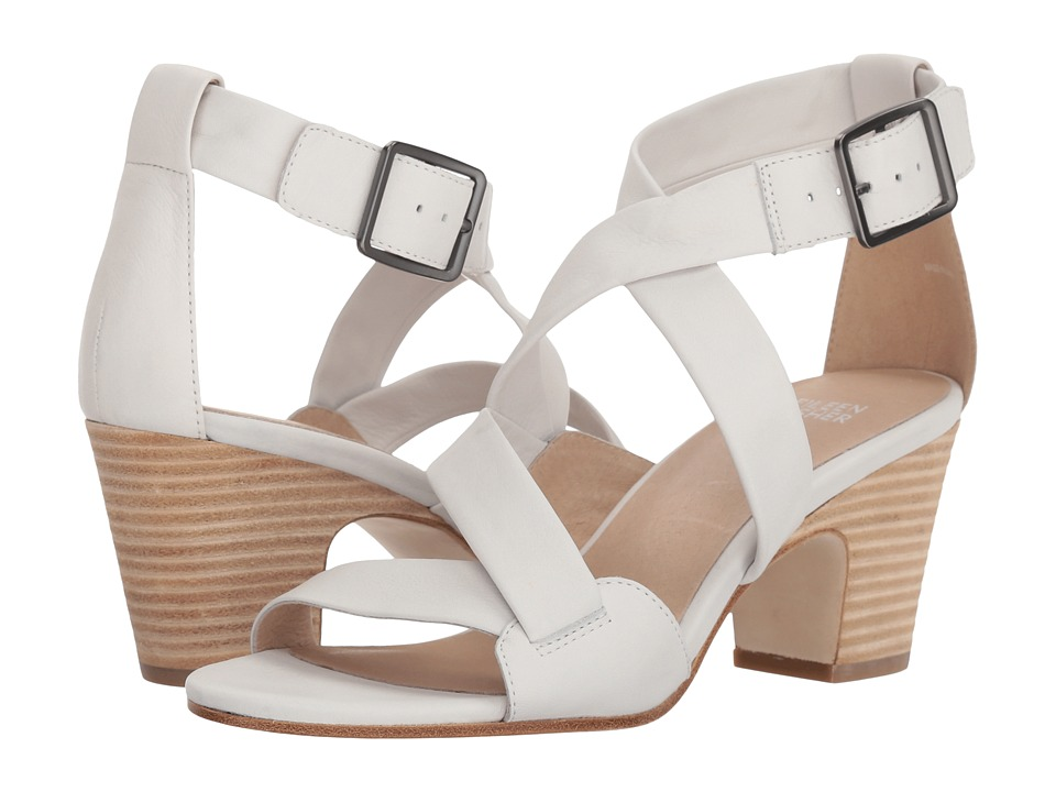 Eileen Fisher Patsy (White Leather) High Heels