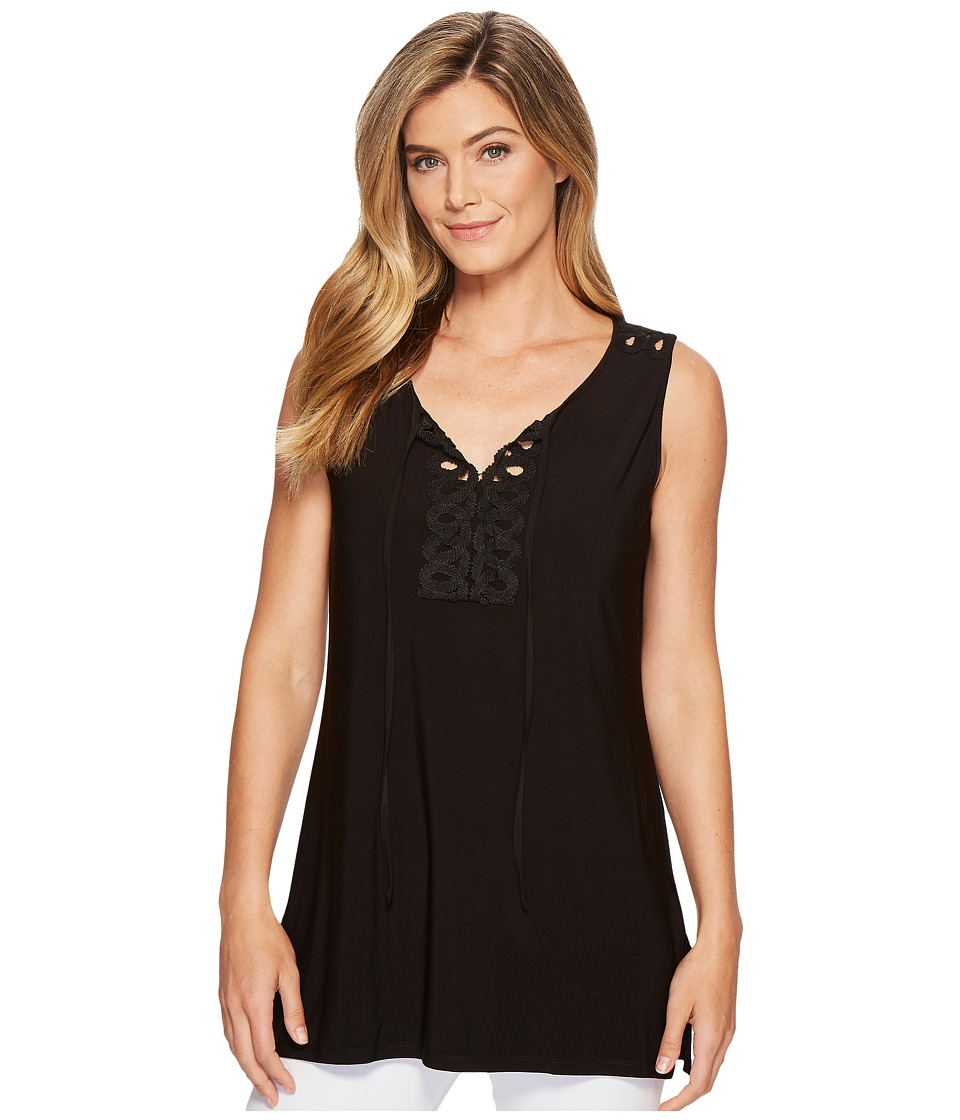 Tribal Pack and Go Travel Jersey Sleeveless Tunic (Black) Women