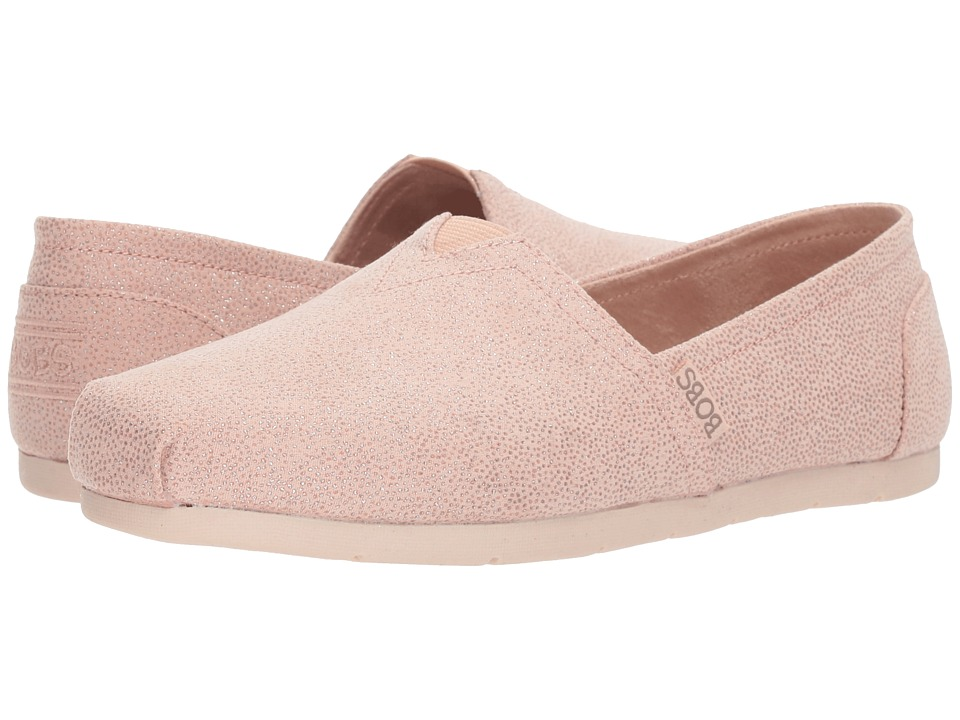 BOBS from SKECHERS Luxe Bobs Caviar And Candy (Light Pink) Women