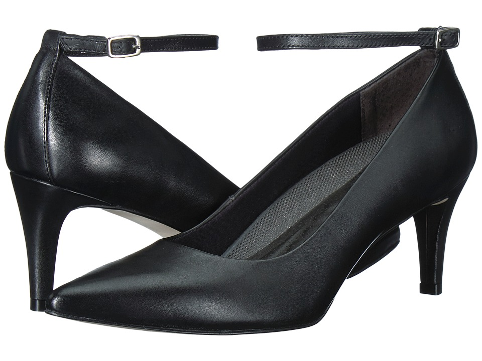 Walking Cradles - Sideline (Black Cashmere Leather) Women's Shoes