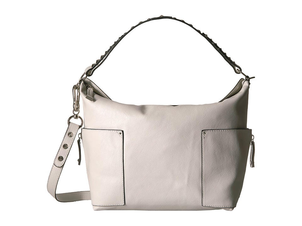 Steve Madden - Blinda Studded Strap Large Hobo (White/Grey/Black) Hobo Handbags