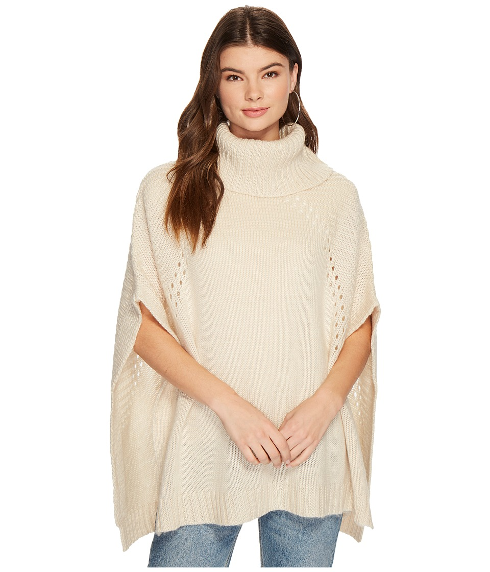LAmade - Sage Soft Turtle Poncho (Cream) Women's Coat