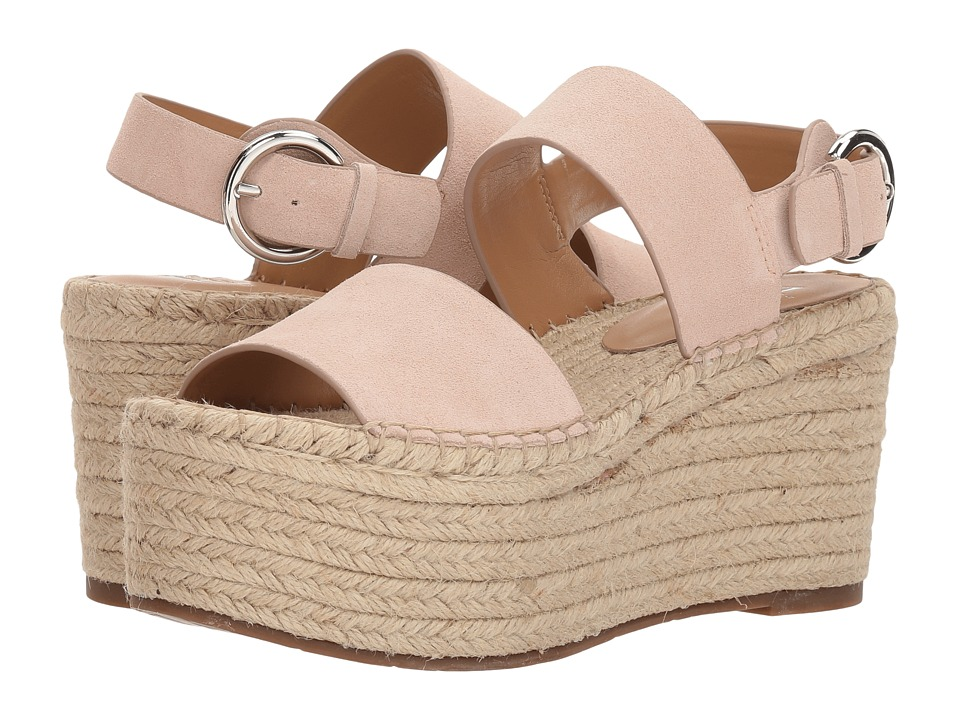 Marc Fisher LTD Renni Espadrille Platform Wedge (Tan Suede) Women