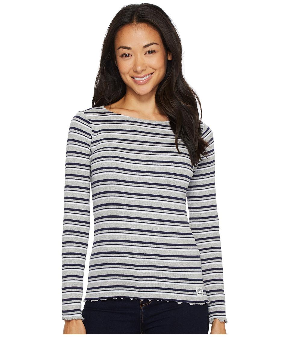 U.S. POLO ASSN. - Yarn-Dye Long Sleeve T-Shirt (Heather Grey) Women's T Shirt