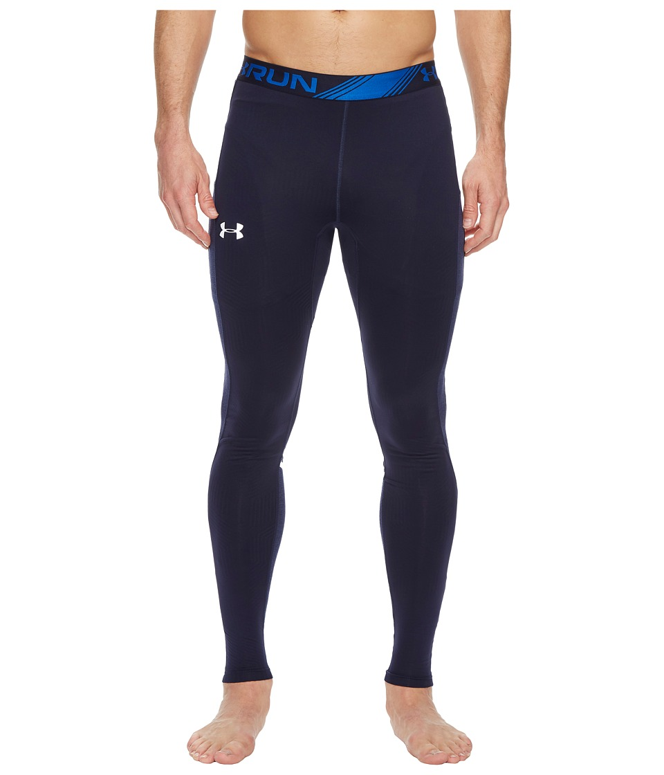 Under Armour - Threadborne Run Cold Gear Infrared Tights (Navy) Men's Casual Pants