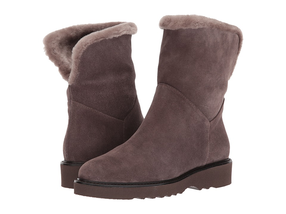 Aquatalia Kimberly (Anthracite Suede/Shearling) Women