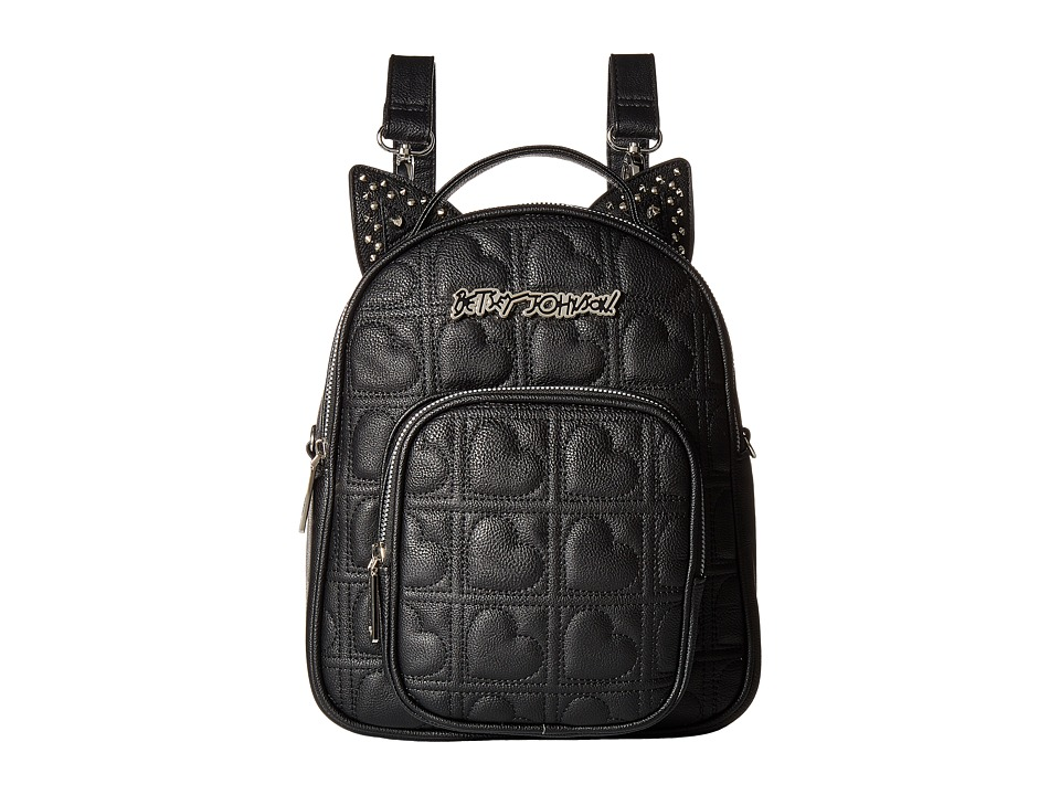 Betsey Johnson - Convertible Backpack (Black) Backpack Bags