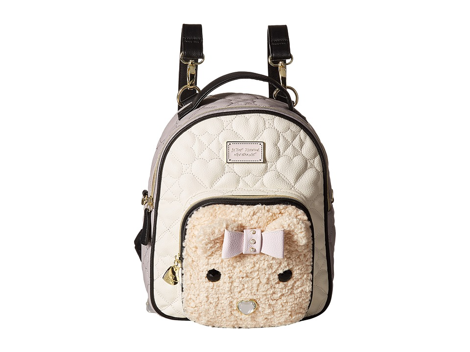 Betsey Johnson - Convertible Backpack (Cream) Backpack Bags