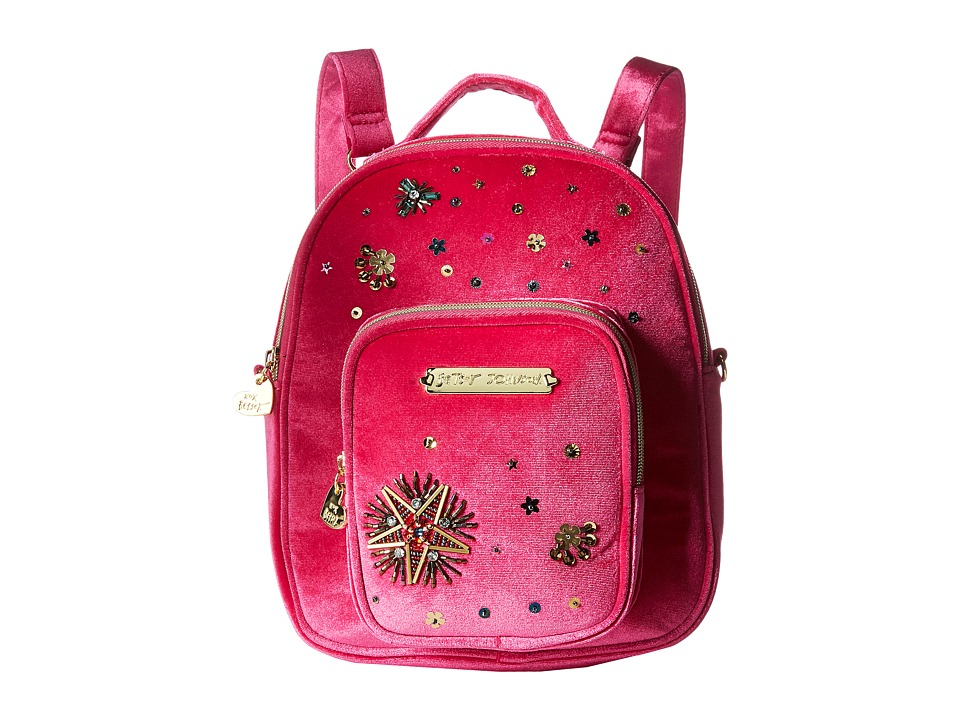 Betsey Johnson - Convertible Backpack (Fuchsia) Backpack Bags