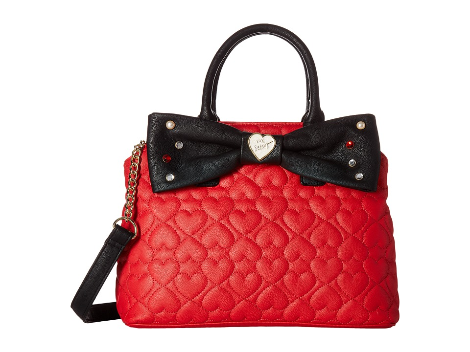 Betsey Johnson - Large Satchel (Red) Satchel Handbags