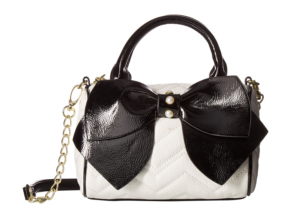 Betsey Johnson - Bownanza Mini Crossbody (Cream/Black) Cross Body Handbags