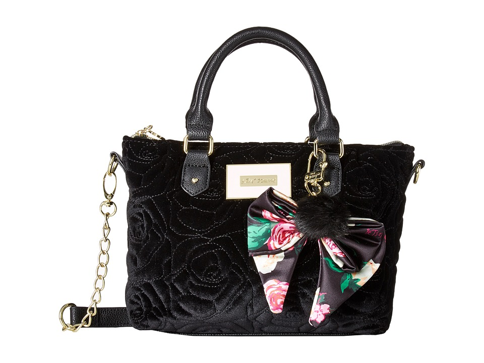 Betsey Johnson - Pinch Satchel Crossbody (Black) Cross Body Handbags