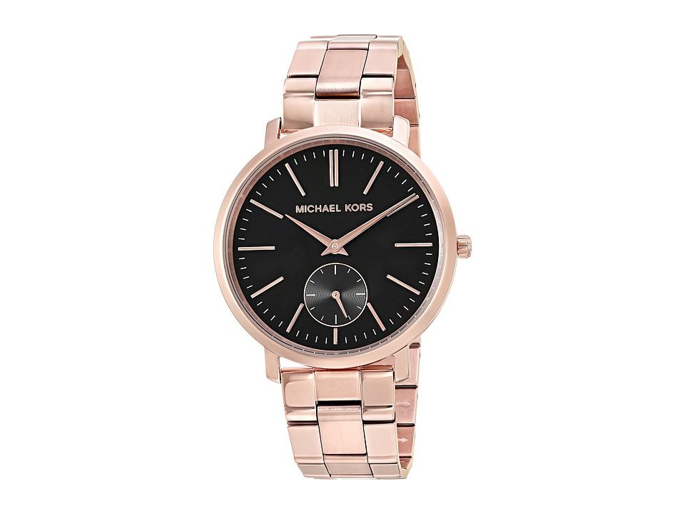 Michael Kors - MK3601 (Black/Rose Gold) Watches