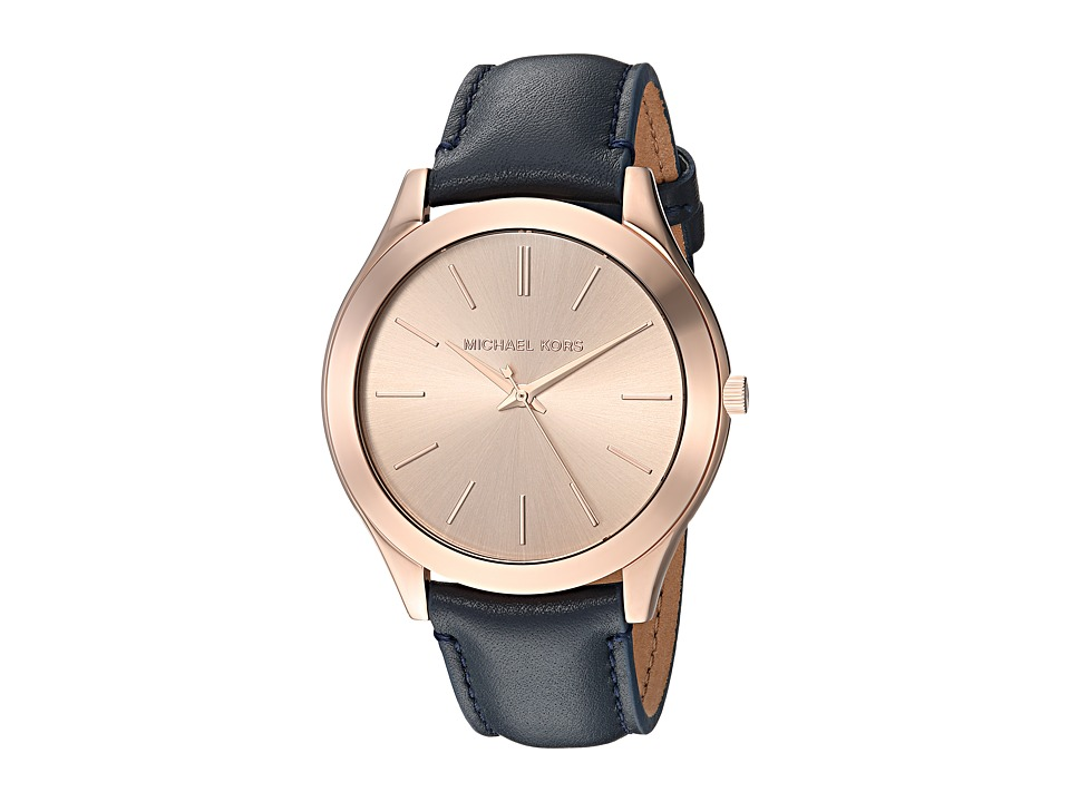 Michael Kors - MK2466 (Rose Gold/Blue) Watches
