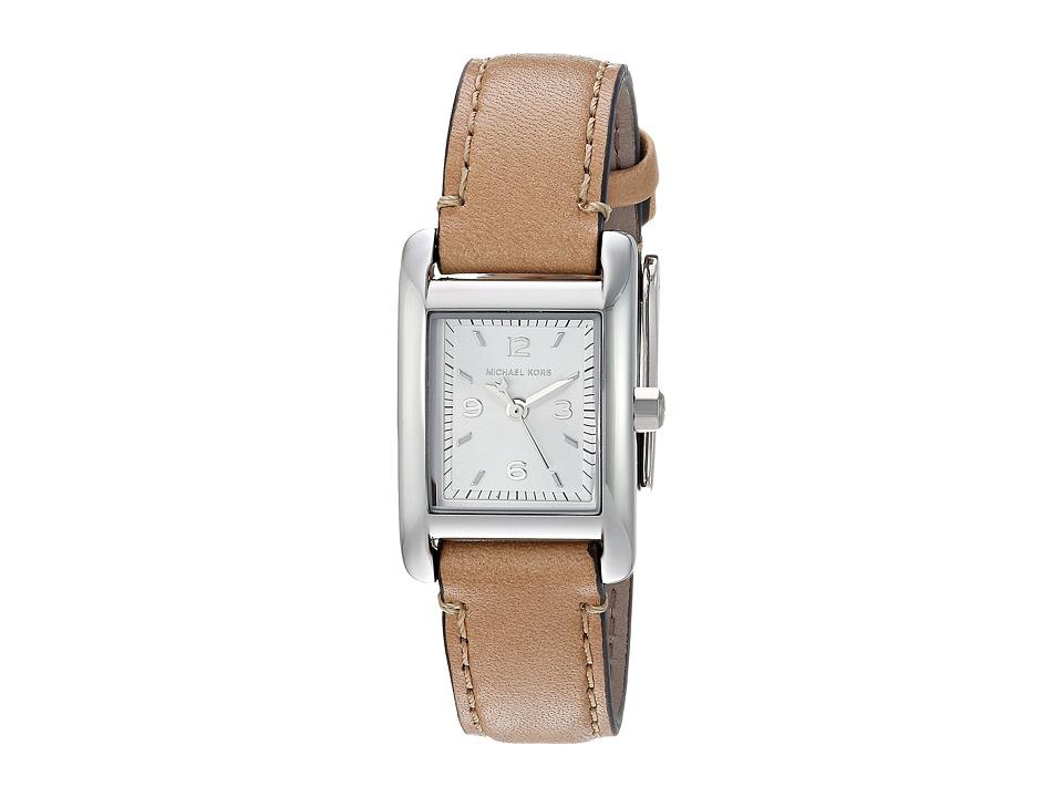 Michael Kors - MK2413 (Silver/Tan) Watches