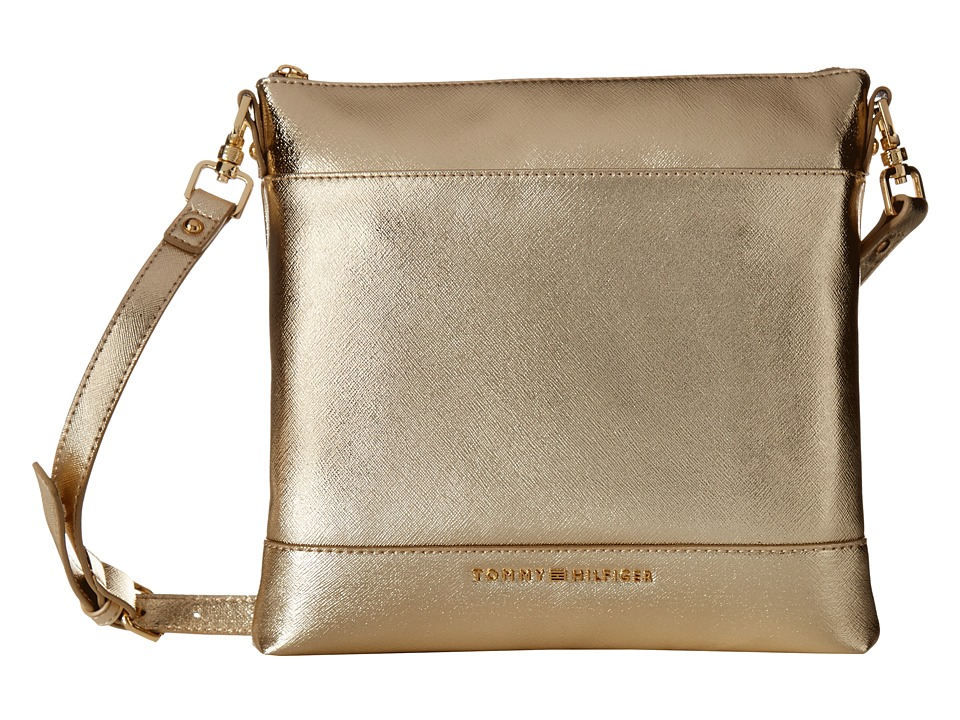 Tommy Hilfiger - Maisie Large North/South Crossbody (Metallic Gold) Cross Body Handbags