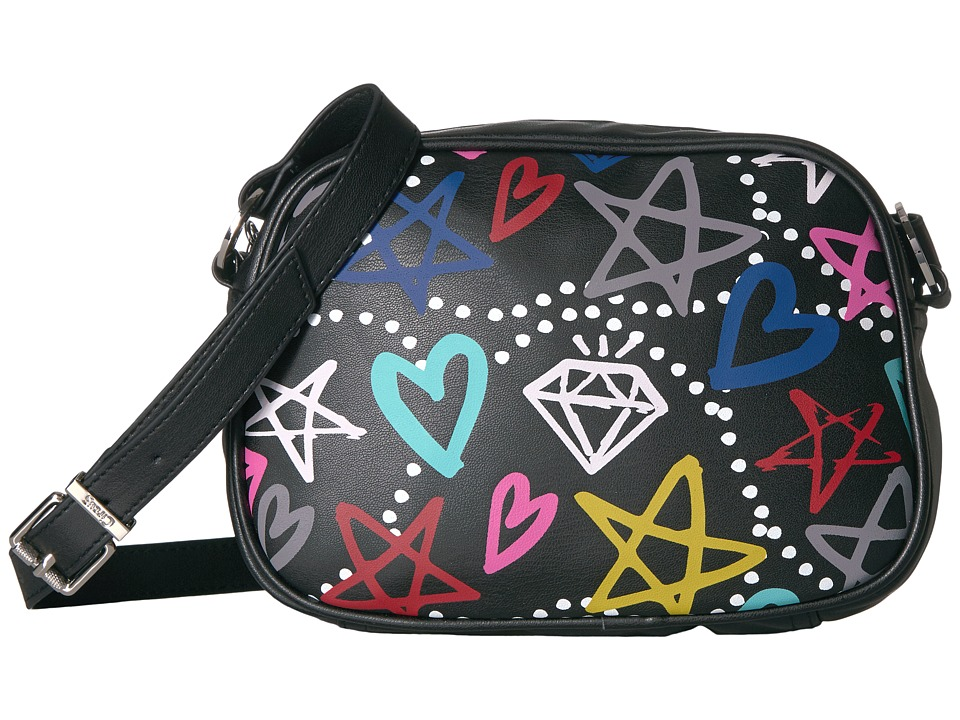 Circus by Sam Edelman - Jamie Graffiti Camera Crossbody (Black Multi) Cross Body Handbags
