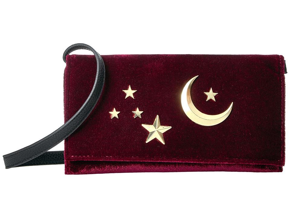 Circus by Sam Edelman - Kimberlee Velvet Wallet On A String (Black) Wallet Handbags