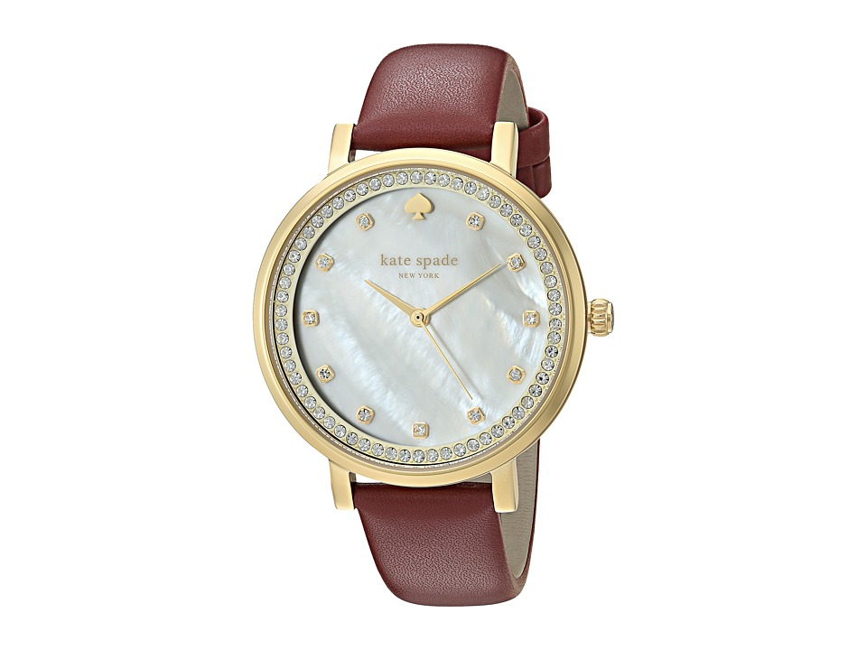 Kate Spade New York - Monterey Mother-of-Pearl - KSW1170 (Gold/Merlot) Watches