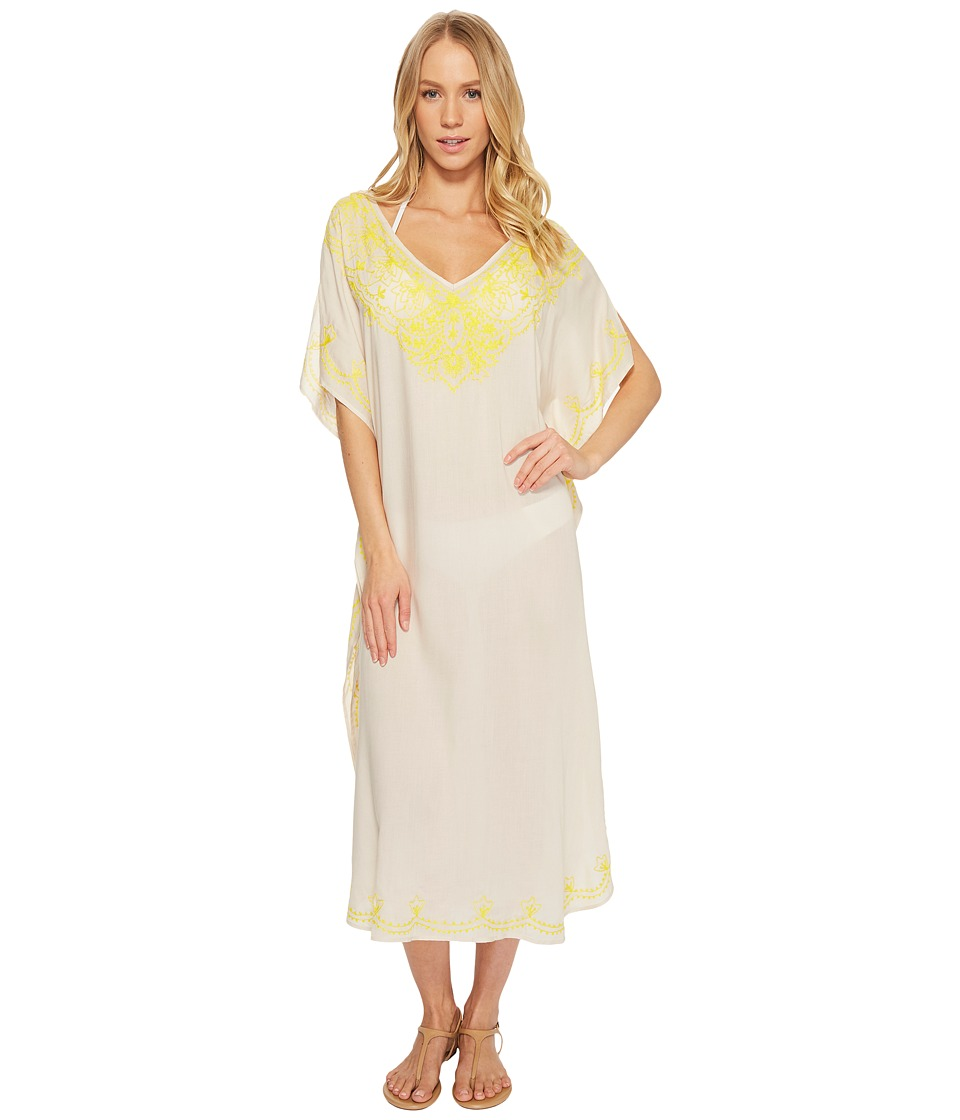Echo Design Embroidered Maxi Caftan (Stone) Women