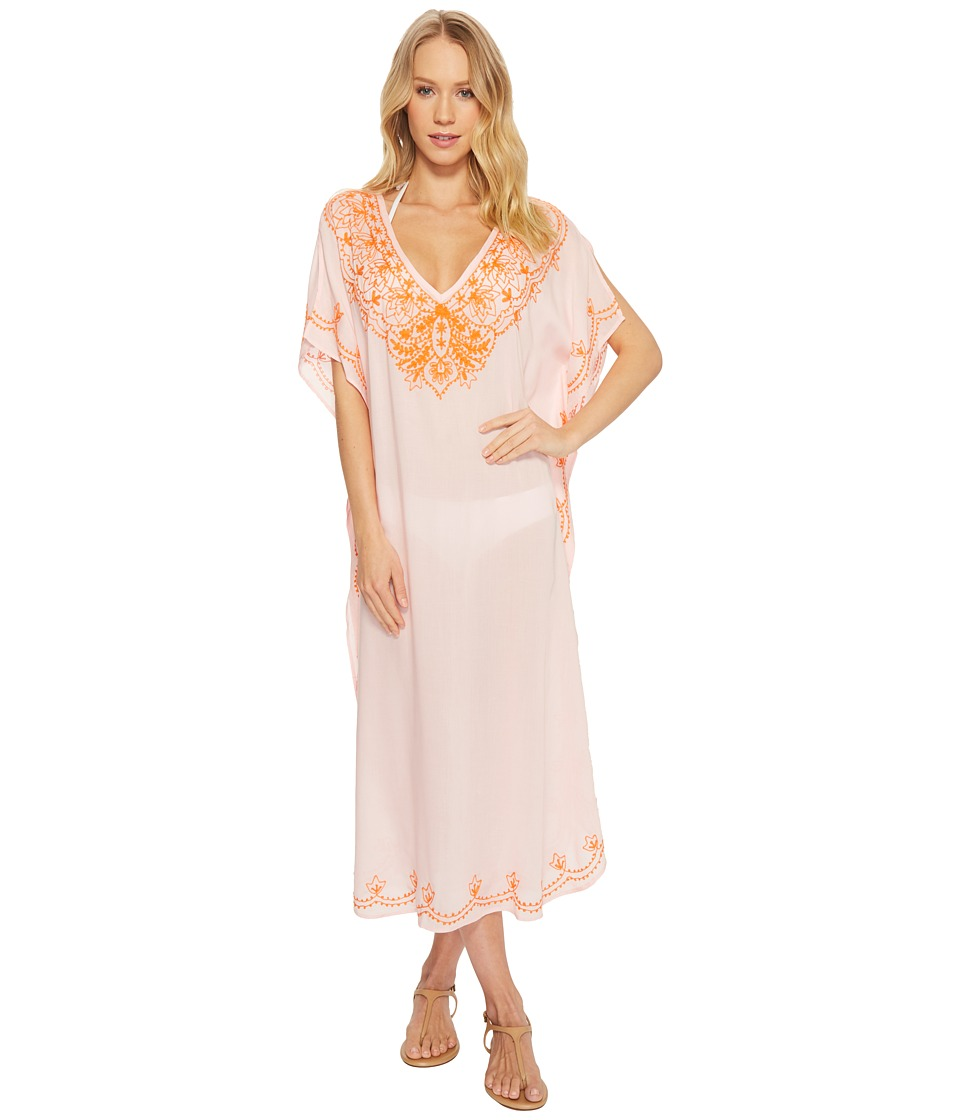 Echo Design Embroidered Maxi Caftan (Rose Pink) Women