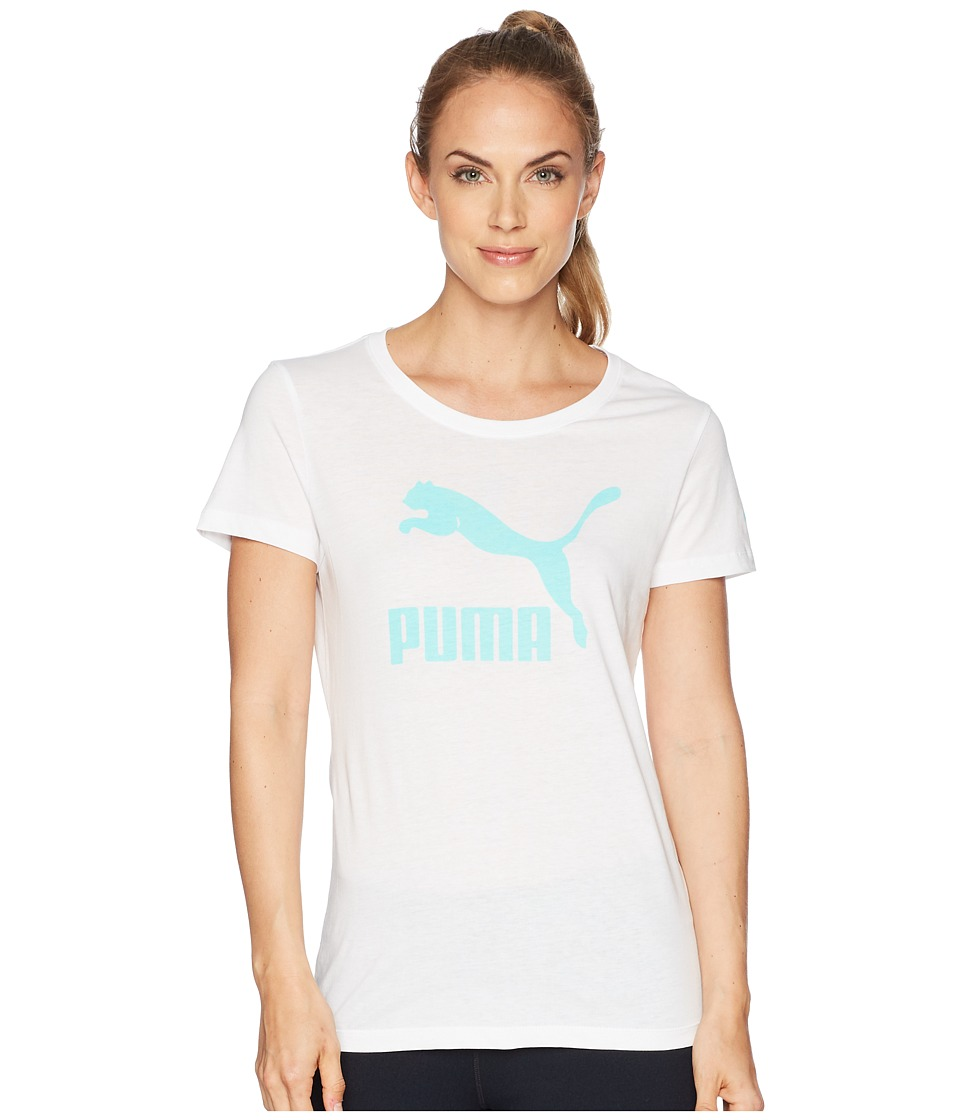 Puma Tip Crop Logo T-Shirt - / - Womens In China Cheap Online Factory Sale Discount Buy Cost Cheap Online lk6ndU