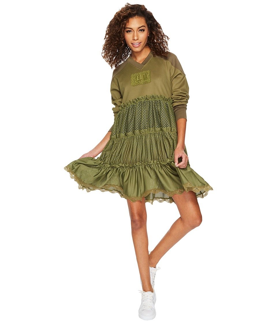 PUMA - Fenty Hockey Baby Doll w/ Tiers (Olive Branch) Women's Clothing