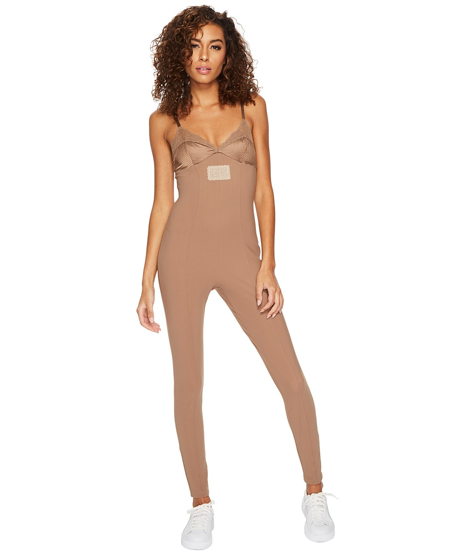 PUMA - Fenty(r) Lace Detail Full Bodysuit (Natural) Women's Jumpsuit & Rompers One Piece