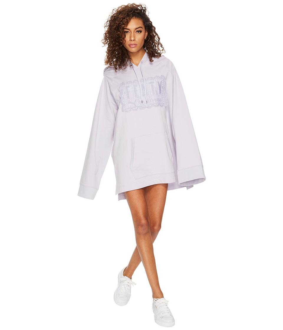 PUMA - Fenty Fleece Off the Shoulder Hoodie (Thistle) Women's Sweatshirt