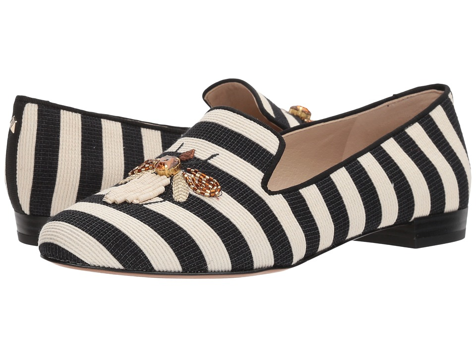 Sam Edelman - Jill (Ivory/Black Woven Stripe) Women's Shoes