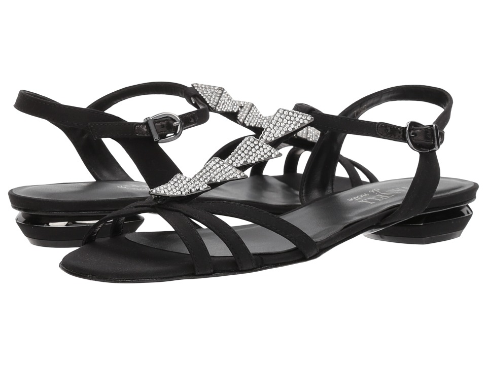 Womens Shoes Vaneli Laval Black Pesca Fabric
