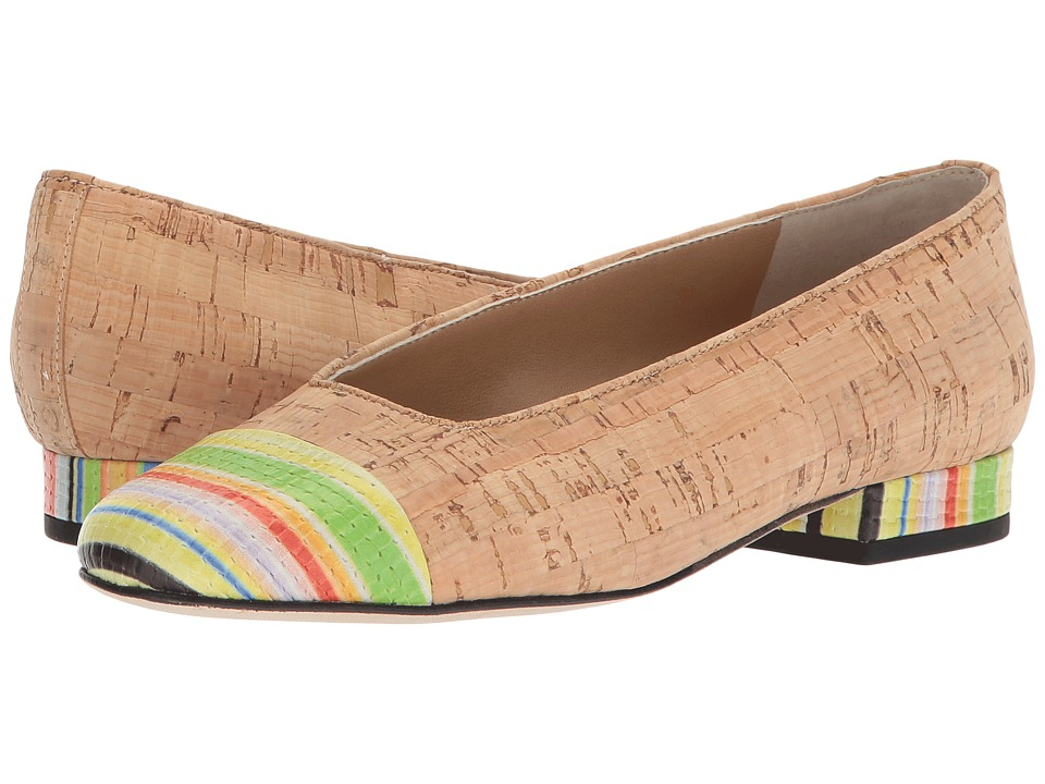 Vaneli - FC-313 (Natural Cork/Multi Rainbow) Women's Slip on Shoes