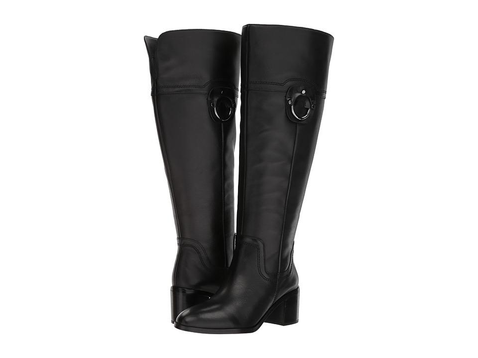Franco Sarto Beckford Wide Calf (Black Leather) Women