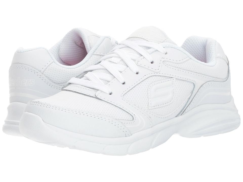 SKECHERS KIDS - Spirit Sprintz (Little Kid/Big Kid) (White) Girl's Shoes