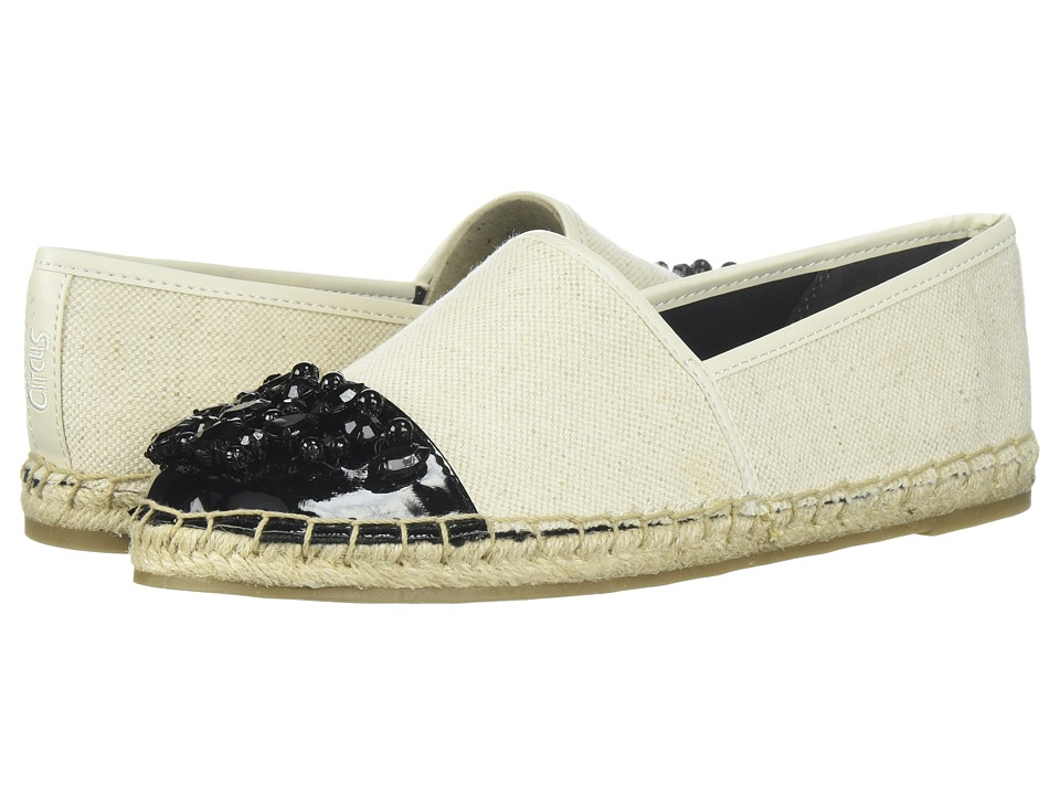 Circus by Sam Edelman - Linda (Ivory/Black Two-Tone Heavy Canvas/Patent) Women's Shoes