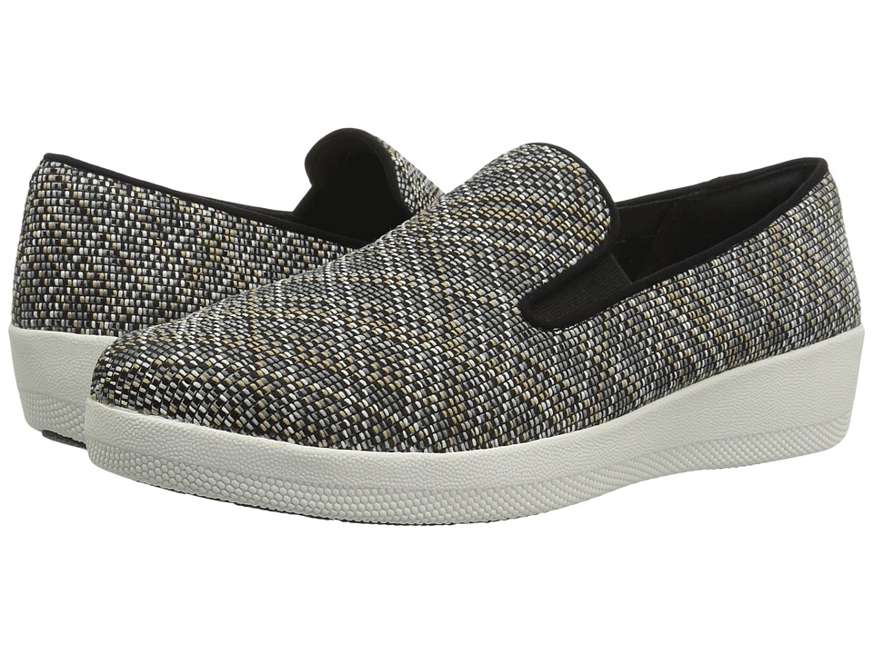 FitFlop - Superskate Twill Knit (Black/Charcoal Mix) Women's Shoes